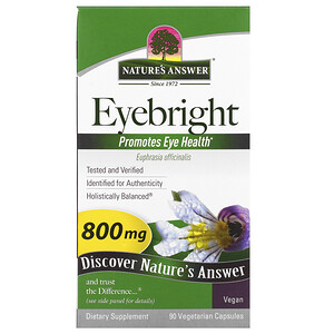 Натурес Ансвер, Eyebright, 800 mg, 90 Vegetarian Capsules отзывы покупателей