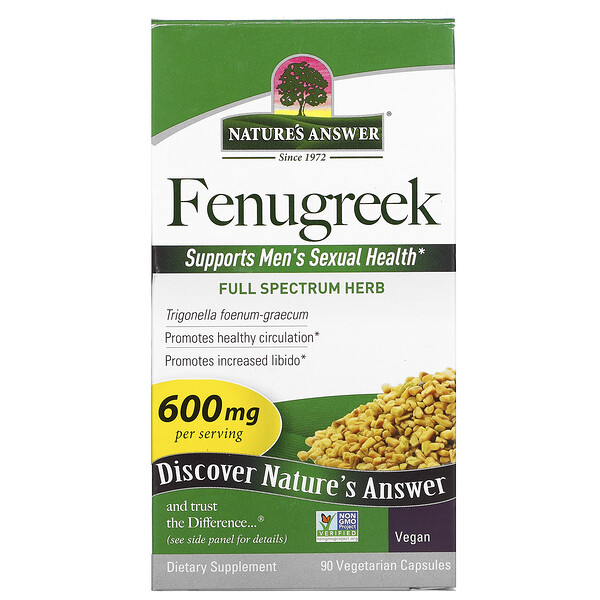 Fenugreek, 600 mg, 90 Vegetarian Capsules