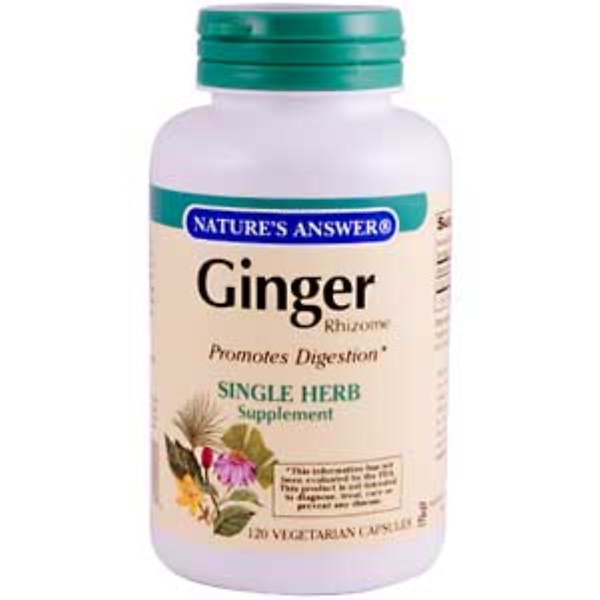 Nature's Answer, Ginger Rhizome, 120 Veggie Caps (Discontinued Item)