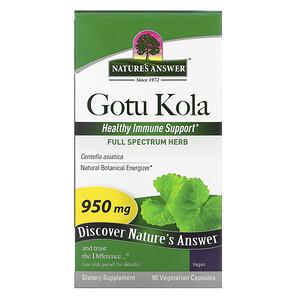 Натурес Ансвер, Gotu Kola, 950 mg, 90 Vegetarian Capsules отзывы покупателей