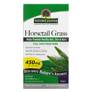 Nature's Answer, Horsetail Grass, 450 mg, 90 Vegetarian Capsules