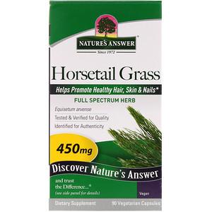 Натурес Ансвер, Horsetail Grass, 450 mg, 90 Vegetarian Capsules отзывы