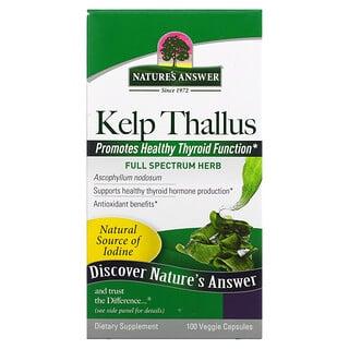 Nature's Answer, Alga Parda, 75 mg, 100 Cápsulas Vegetais
