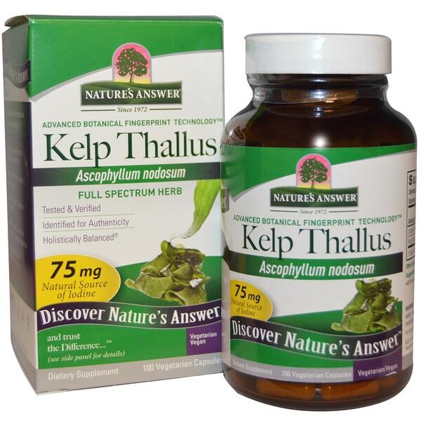 Kelp Thallus, 100 Veggie Capsules