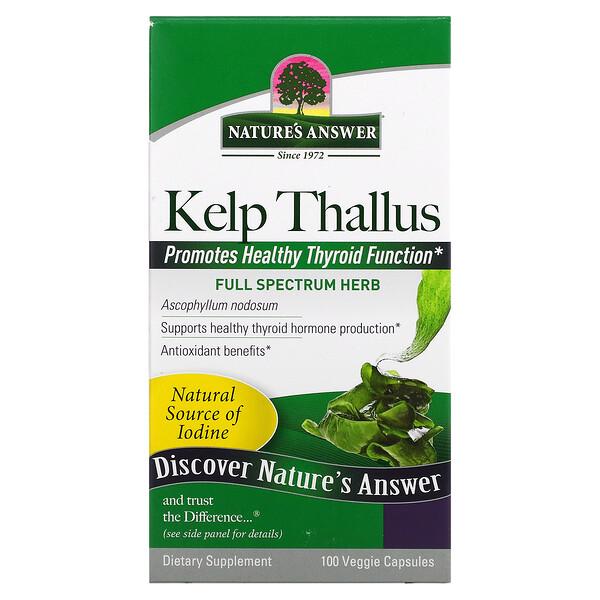 Nature's Answer, Quelpo talo, 75 mg, 100 cápsulas vegetarianas