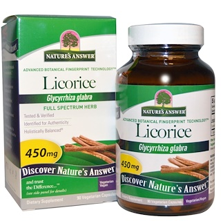Nature's Answer, Licorice, 450 mg, 90 Vegetarian Capsules