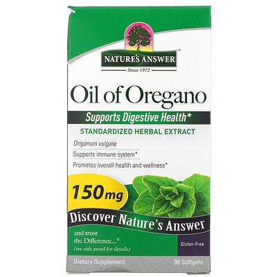 Купить Nature's Answer Oil of Oregano, 150 mg, 90 Softgels
