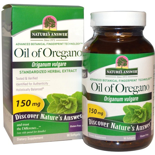 Oil of Oregano, Origanum Vulgare, 150 mg, 90 Softgels