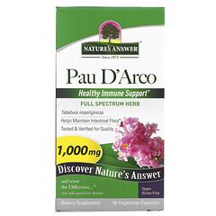 Nature's Answer, Pau D'Arco,1,000 毫克,90 粒素食膠囊
