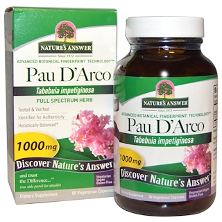 Nature's Answer, Pau D'Arco، 1000 ملغ، 90 كبسولة نباتية