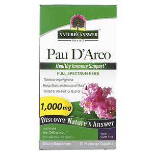 Натурес Ансвер, Pau D'Arco, 1,000 mg, 90 Vegetarian Capsules отзывы покупателей