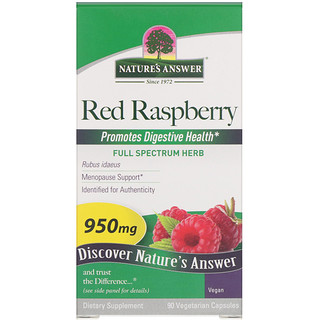 Nature's Answer, Red Raspberry, Rubus Idaeus, 950 mg, 90 Vegetarian Capsules