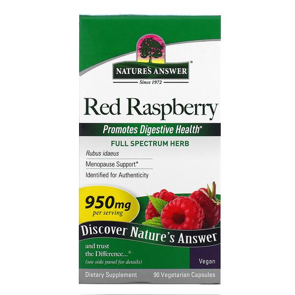 Red Raspberry, Rubus Idaeus, 475 mg, 90 Vegetarian Capsules