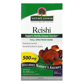 Nature's Answer, Reishi, 500 mg, 90 Vegetarian Capsules