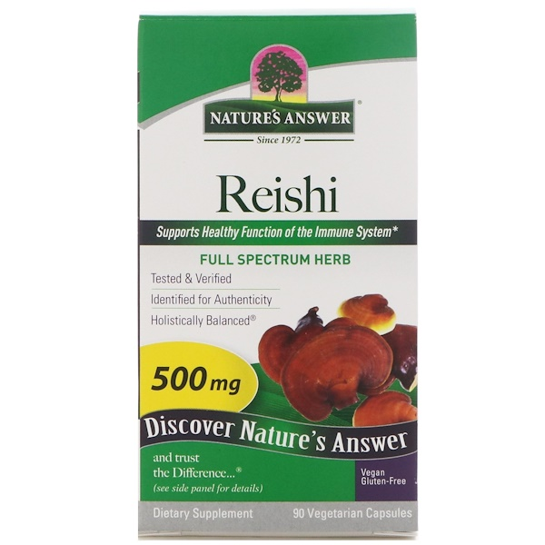 Nature's Answer, Reishi, 500 mg, 90 cápsulas vegetarianas