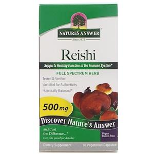 Натурес Ансвер, Reishi, 500 mg, 90 Vegetarian Capsules отзывы