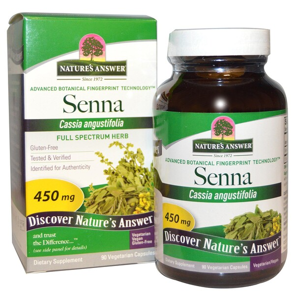 Nature's Answer, Senna, 450 mg, 90 Vegetarian Capsules (Discontinued Item)