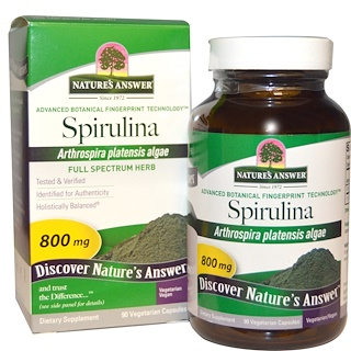 Nature's Answer, Spirulina, 800 mg, 90 Vegetarian Capsules