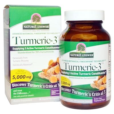 Купить Turmeric-3, 5, 000 mg, 90 Vegetarian Capsules