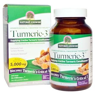 Nature's Answer, Turmeric-3, 5,000 mg, 90 cápsulas vegetarianas