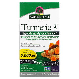 Nature's Answer, Turmeric-3, 90 Vegetarian Capsules