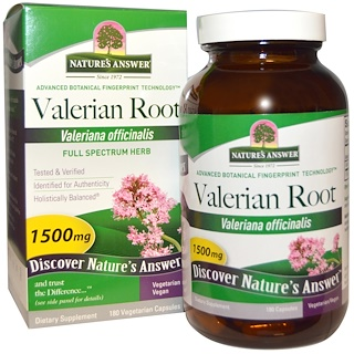 Nature's Answer, Valerian Root, Full Spectrum Herb, 1500 mg, 180 Vegetarian Capsules