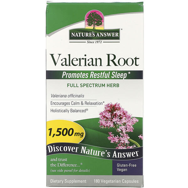 Valerian Root, Full Spectrum Herb, 1500 mg, 180 Vegetarian Capsules