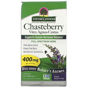 Натурес Ансвер, Chasteberry, Vitex Agnus-Castus, 400 mg, 90 Vegetarian Capsules отзывы