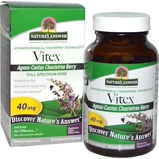 Nature's Answer, Vitex, Agnus-Castus Chastetree Berry, 90 Vegetarian Capsules