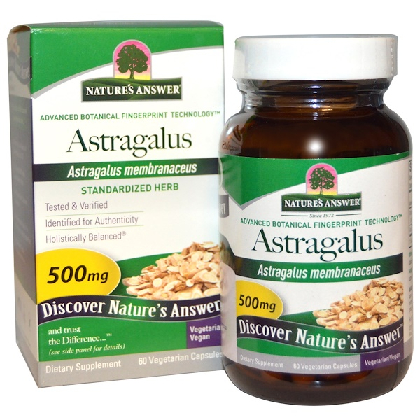 Nature's Answer, Astragalus, 500 mg, 60 Comprimidos Vegetarianos