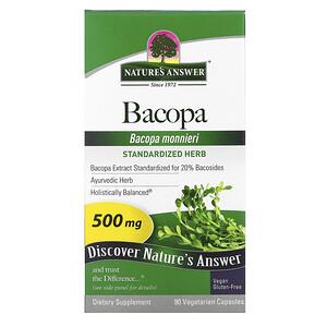 Натурес Ансвер, Bacopa, 500 mg, 90 Vegetarian Capsules отзывы покупателей