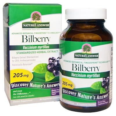 Купить Черника, стандартизированный растительный экстракт, 205 мг, 90 вегетарианских капсул