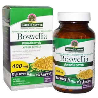 Nature's Answer, Boswellia, 400 mg. 90 cápsulas aptas para vegetarianos.