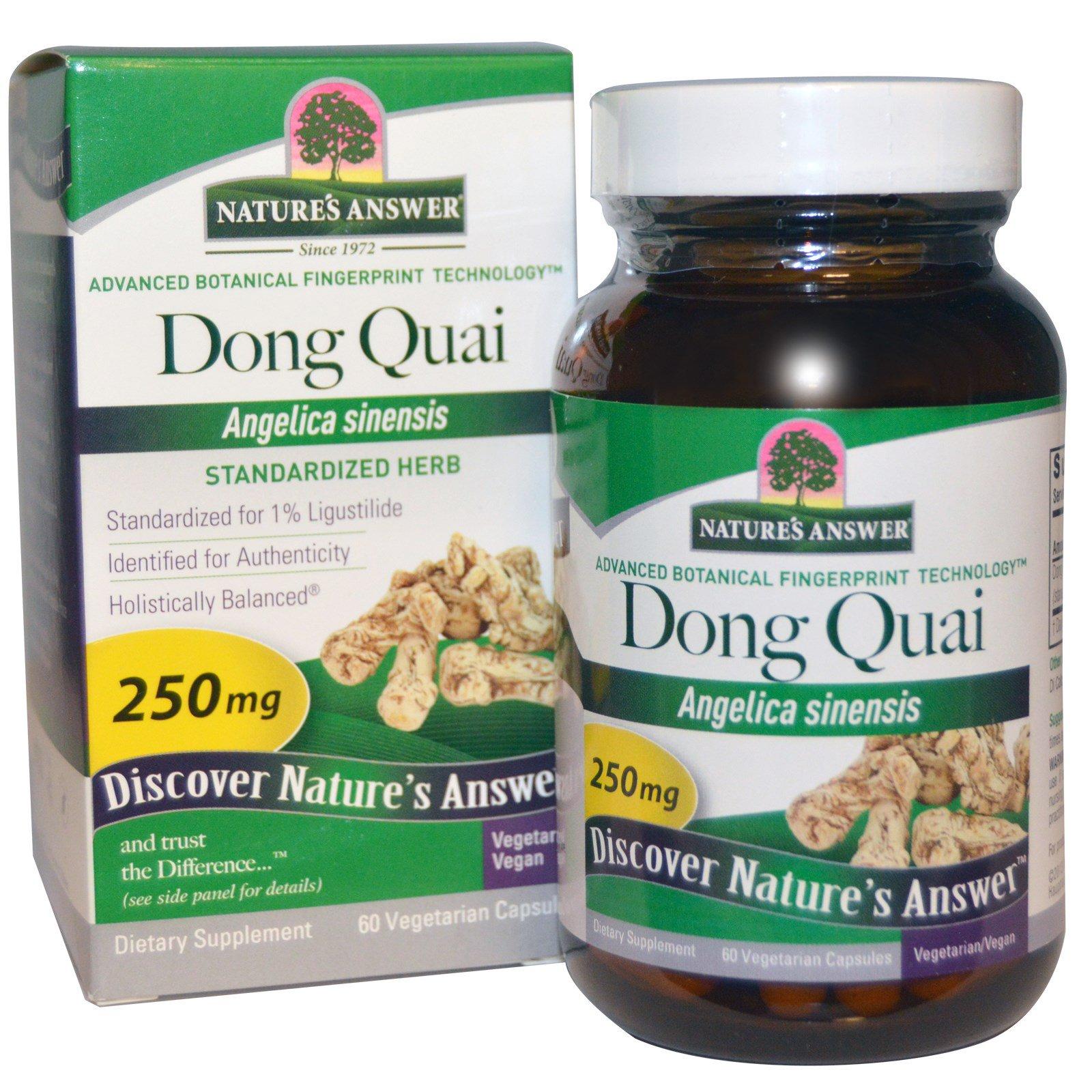 Nature's Answer, Дудник китайский, 250 мг, 60 растительных капсул