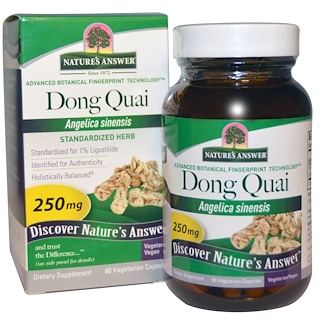 Nature's Answer, Dong Quai, 250 mg, 60 Vegetarian Capsules