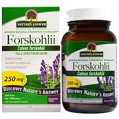 Nature's Answer, Forskohlii, 250 mg, 60 베지 캡슐
