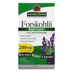 Nature's Answer, Forskohlii,250 毫克,60 粒素食膠囊