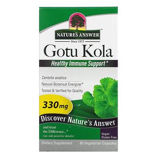 Nature's Answer, Gotu Kola, Healthy Immune Support, 330 mg, 60 Vegetarian Capsules