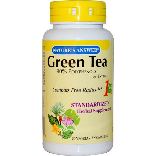 Nature's Answer, Green Tea Leaf Standardized Extract, 30 Veggie Caps (Discontinued Item)