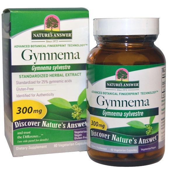 Nature's Answer, Gymnema, 300 mg, 60 Vegetarian Capsules (Discontinued Item)