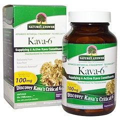 Nature's Answer, Kava-6, 90 Vegetarian Capsules