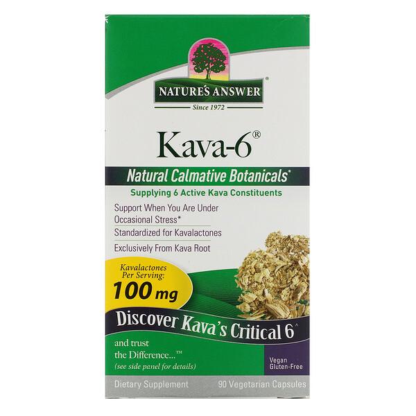 Kava-6, 90 Vegetarian Capsules