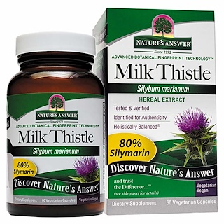 Nature's Answer, Milk Thistle, Seed Standardized Extract, 60 Vegetarian Capsules