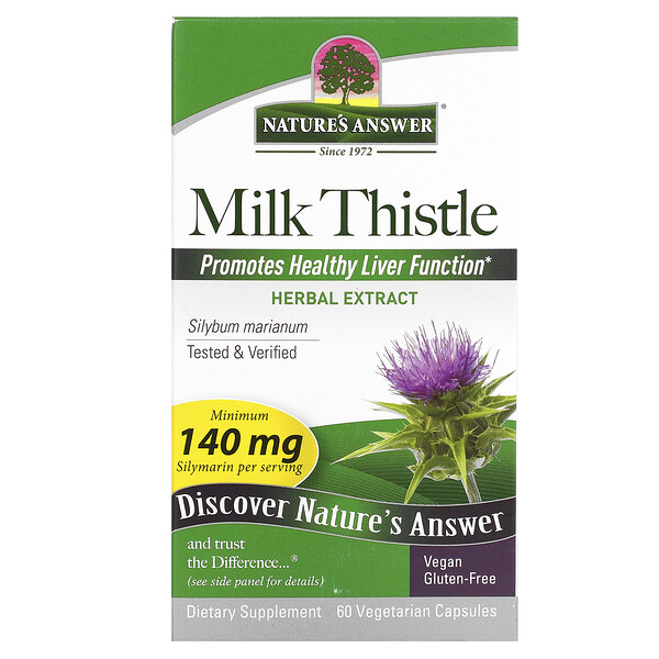 Nature's Answer, Milk Thistle, 60 Vegetarian Capsules