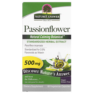 Nature's Answer, Passionflower, 500 mg, 60 Vegetarian Capsule