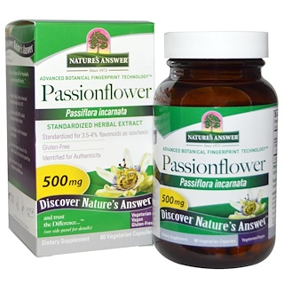 Nature's Answer, Pasionaria, 500 mg, 60 cápsulas vegetales
