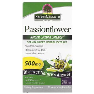 Натурес Ансвер, Passionflower, 500 mg, 60 Vegetarian Capsule отзывы