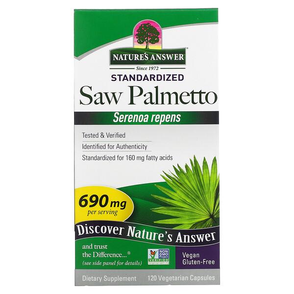 Saw Palmetto, Standardized, 690 mg, 120 Vegetarian Capsules