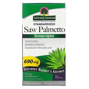 Натурес Ансвер, Saw Palmetto, Standardized, 690 mg, 120 Vegetarian Capsules отзывы покупателей