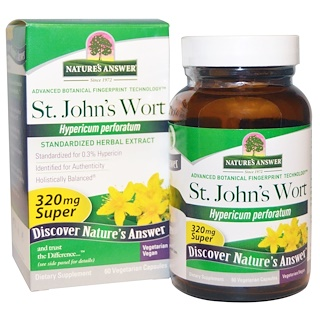 Nature's Answer, Super St. John's Wort, Standardized Herb Extract, 320 mg, 60 Vegetarian Capsules